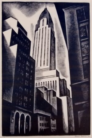 Howard Cook: Chrysler Building. Signed and dated, one of an edition of 50.