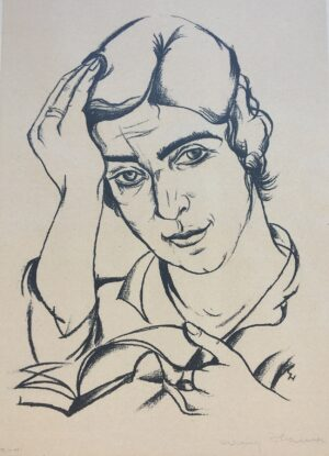 """Carry Hauser: Portrait of a Woman. Signed, dated, and inscribed """"T-H"""" in pencil."""