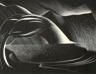 Paul Landacre: Storm. Signed, titled and numbered 44/60 in pencil.