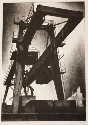 """Louis Lozowick, """"Crane"""", 1928"""