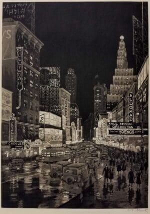 Armin Schutz The Great White Way Original Print for sale