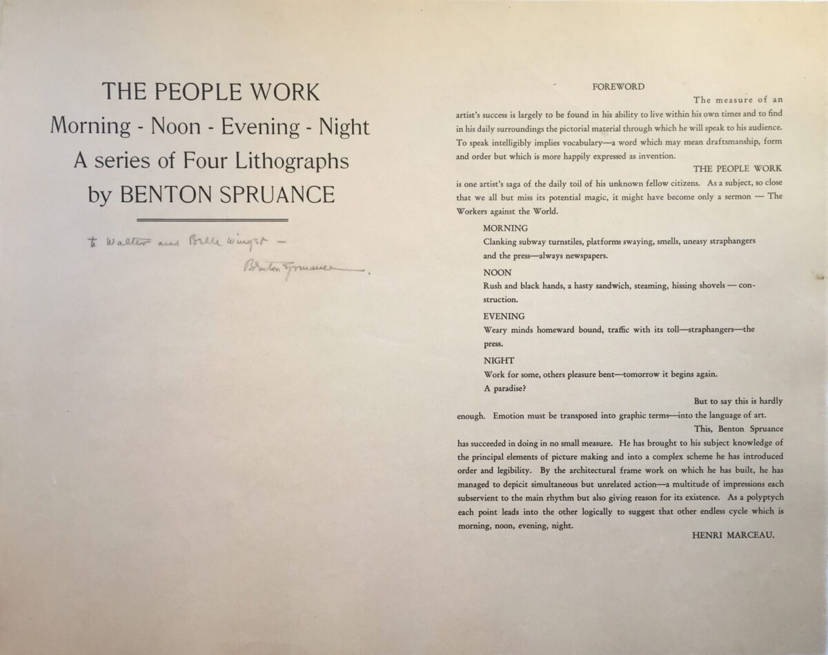 SPRUANCE – The People Work Title page